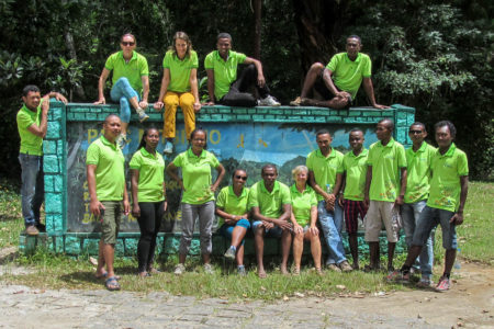 The blue forests team outside Mitsinjo National Park